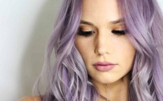 purple hair lady has amazing hair heat protection spray coloured hair