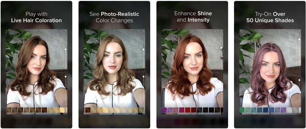 modiface hair color app