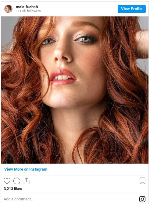 green eyes copper hair