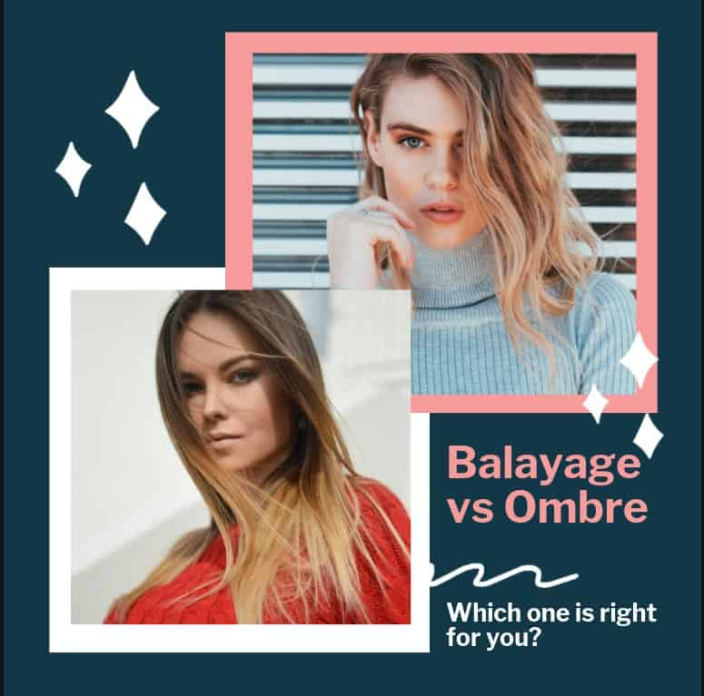 Difference between Balayage and Ombre hair meme