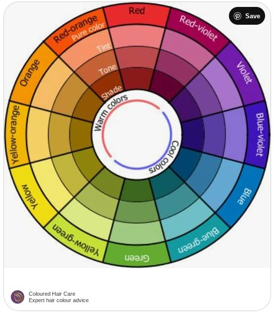 hair color correction wheel