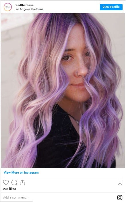 how to dye your hair purple at home insta 2
