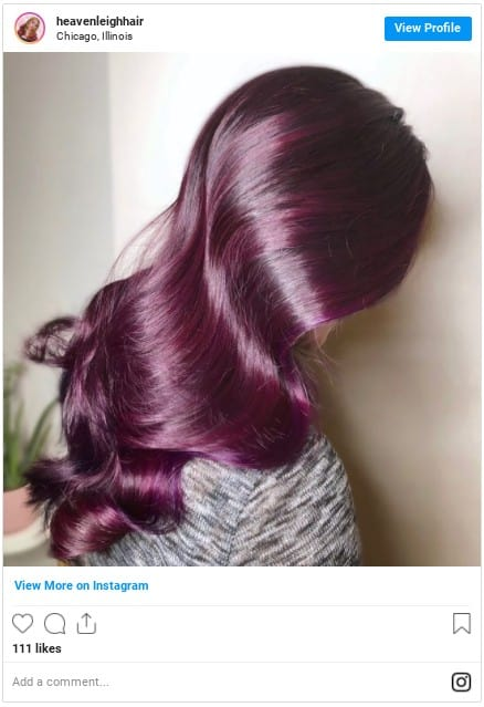 how to dye your hair purple at home insta 3