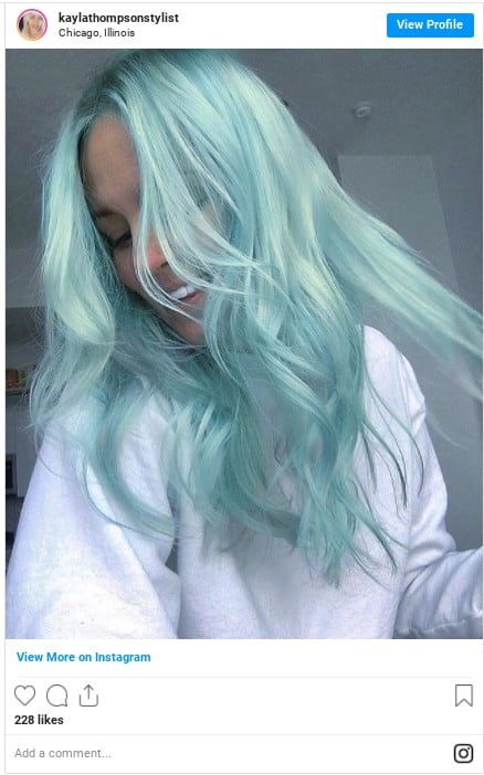 blue hair at home colorful hair instagram