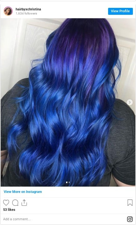 blue hair colors at home manic panic instagram
