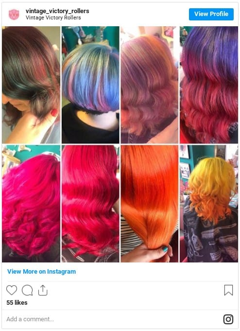 semi permanent hair color ideas instagram