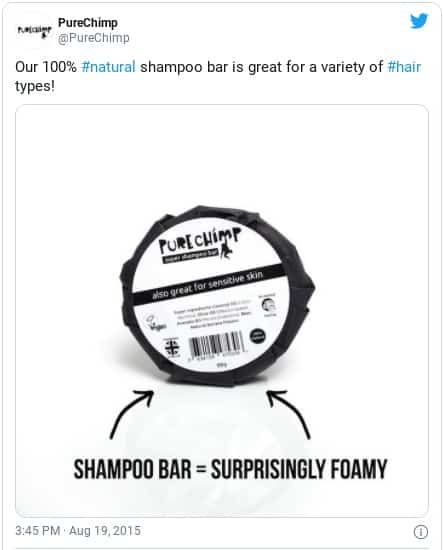 best pure chimp shampoo bar instagram