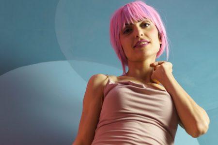 pink hair at home