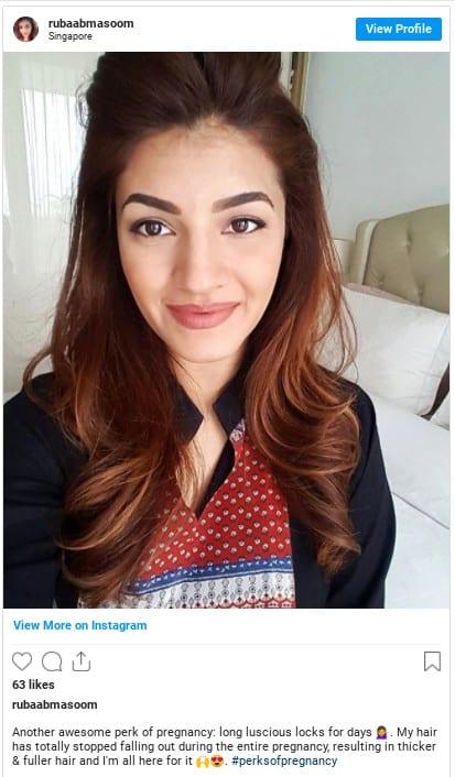 pregnancy hair thicker instagram