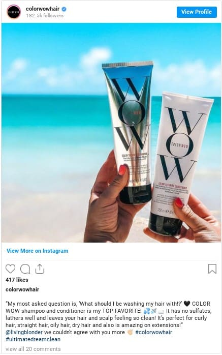 color wow hair conditioner