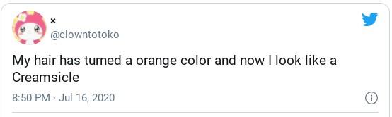 orange hair funny tweet
