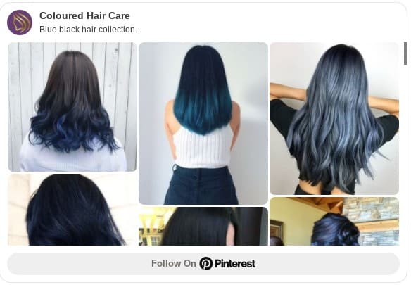 blue black hair color ideas pinterest