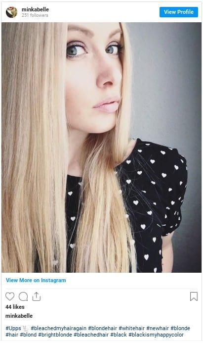 blonde hair instagram