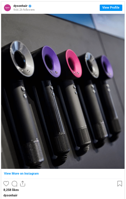 range of dyson supersonic colors