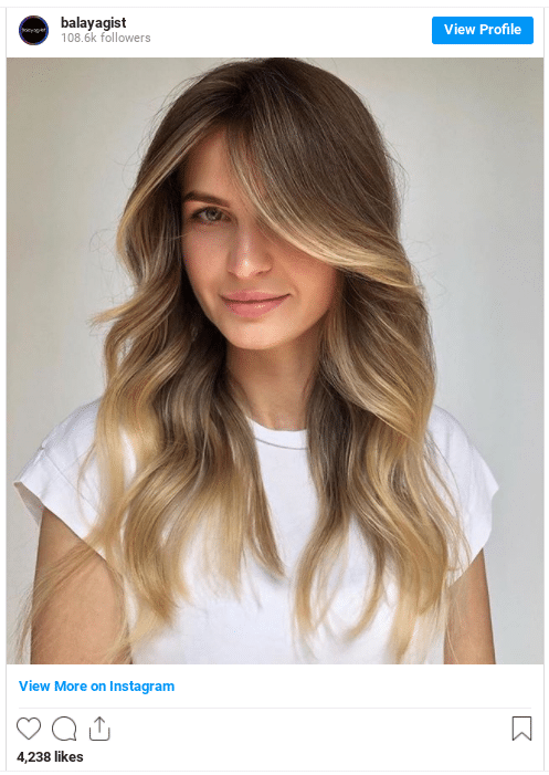 How to balayage hair at home instagram