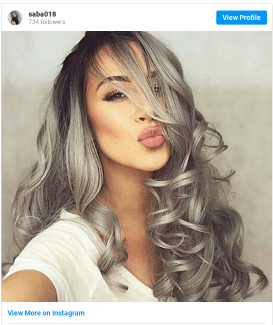 insta girl with silver hair at home 2