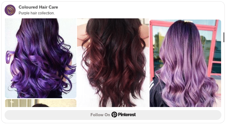 how to dye your hair purple at home pinterest