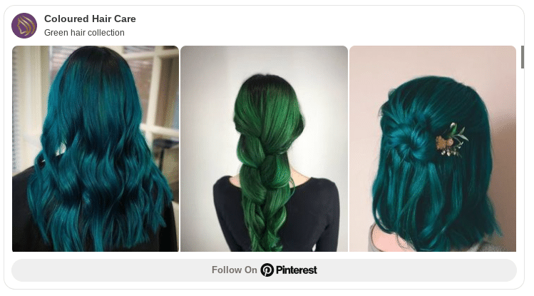 green hair color ideas pinterest