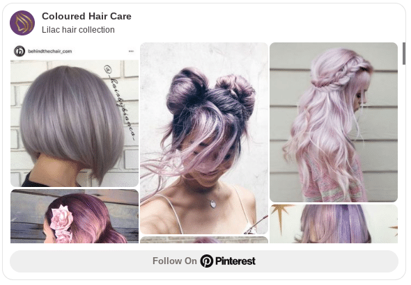 How to dye your hair lilac at home.
