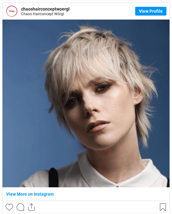 short hair bleached hair instagram