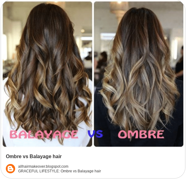 balayage and ombre comparison colors