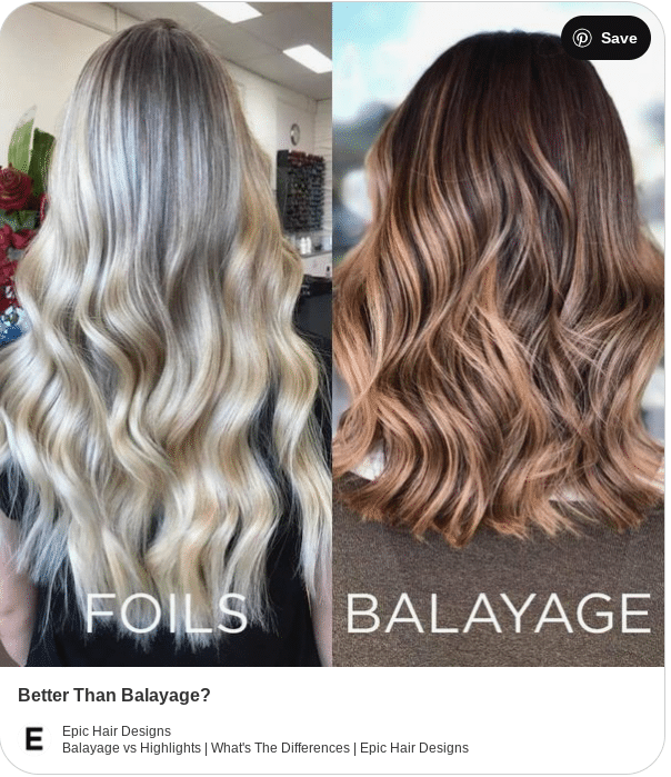 balayage and highlights comparison colors
