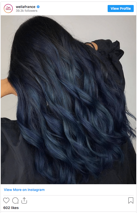 midnight blue hair without bleach instagram