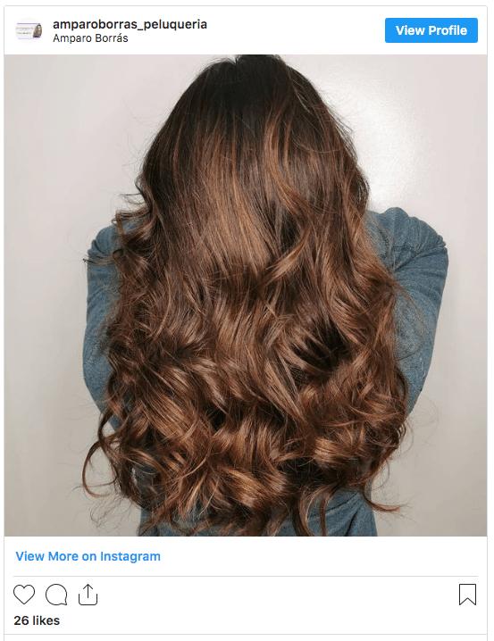 chestnut brown hair dye without bleach instagram