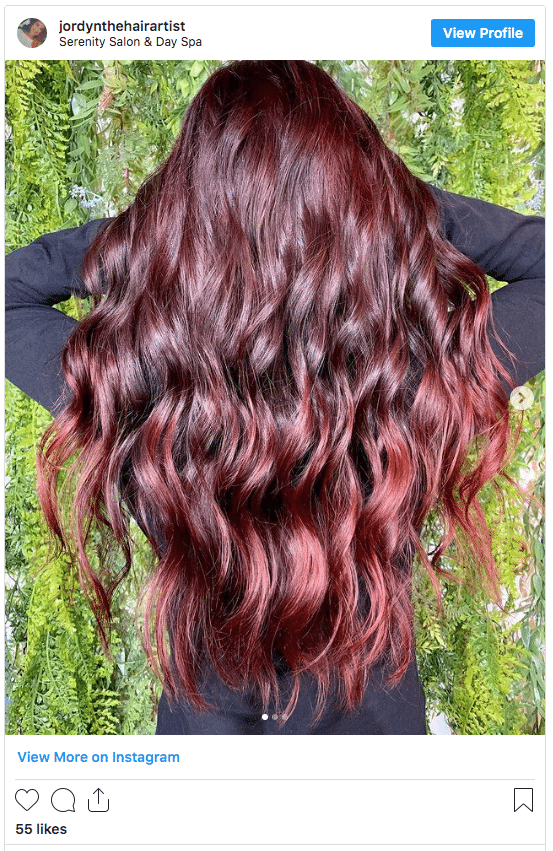 rich red hair without bleach instagram