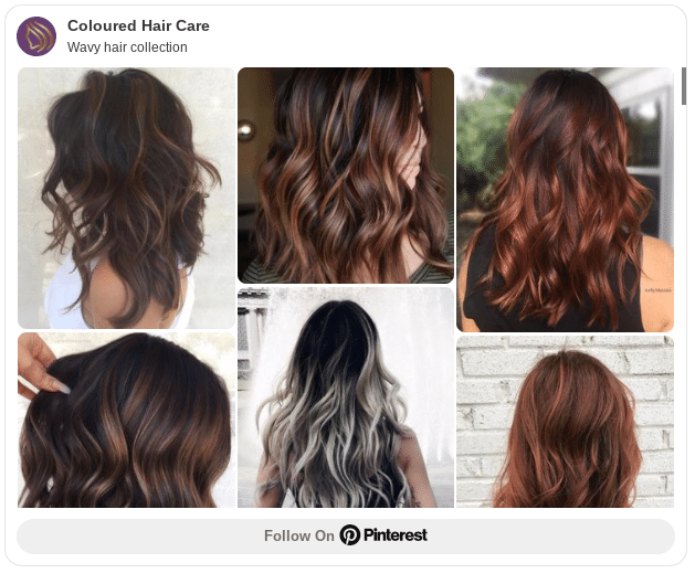 wavy hair collection pinterest board