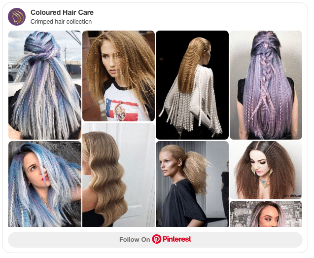 crimped hair collection pinterest board