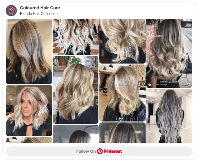 blonde highlights collection pinterest board