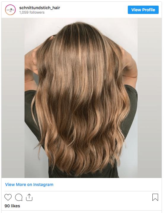 caramel hair color idea