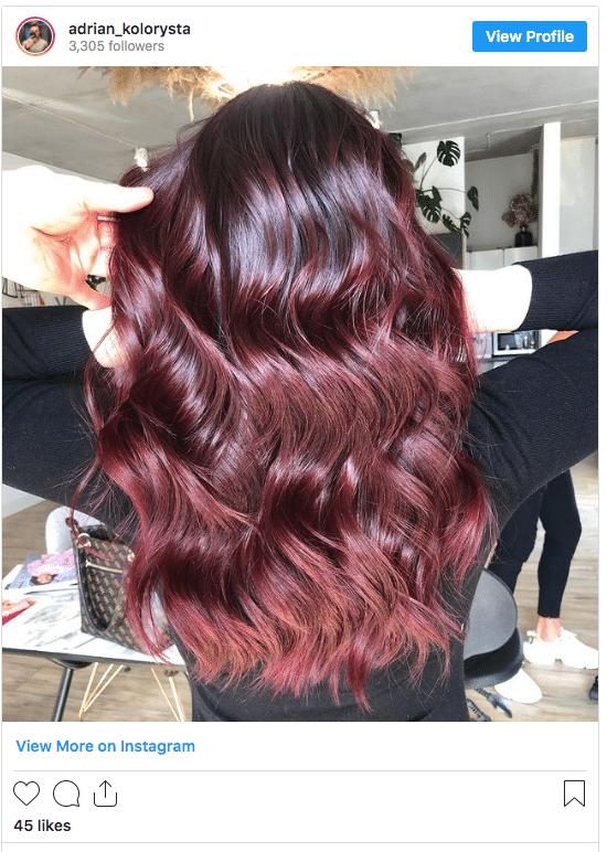 burgundy hair color ideas instagram