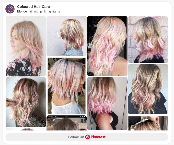 blonde hair with pink highlights pinterest board