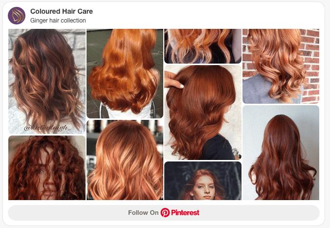 ginger hair pinterest board