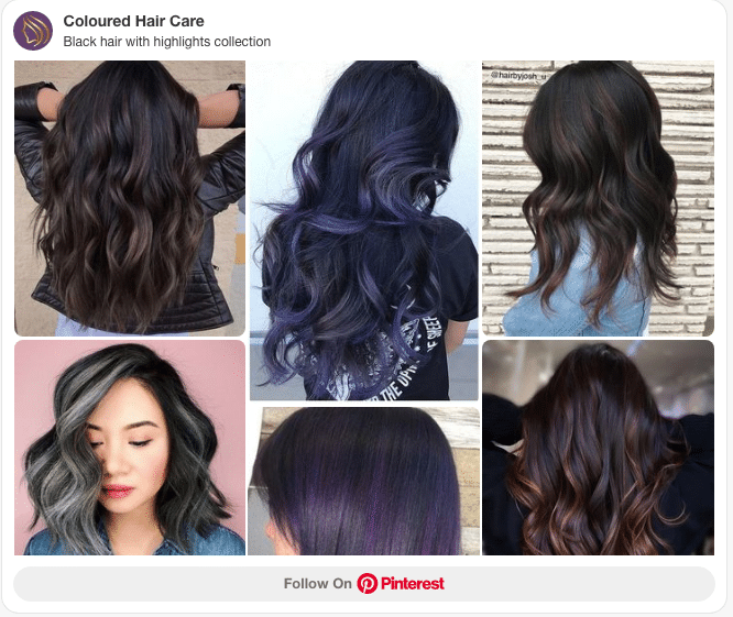 black hair with highlights collection pinterest board