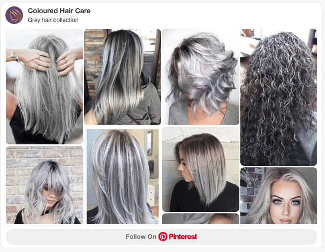 Grey hair collection pinterest board