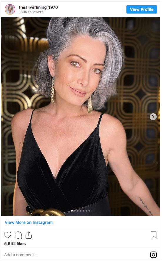 grey hair instagram pic
