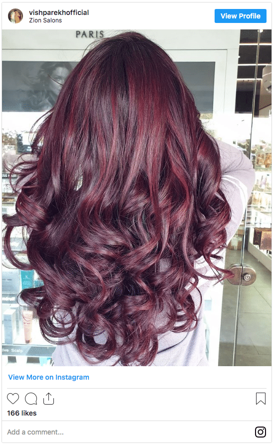 purple and red highlights instagram post