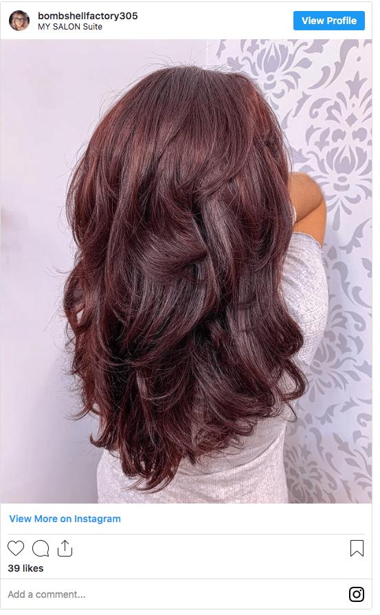chocolate cherry hair color autumn