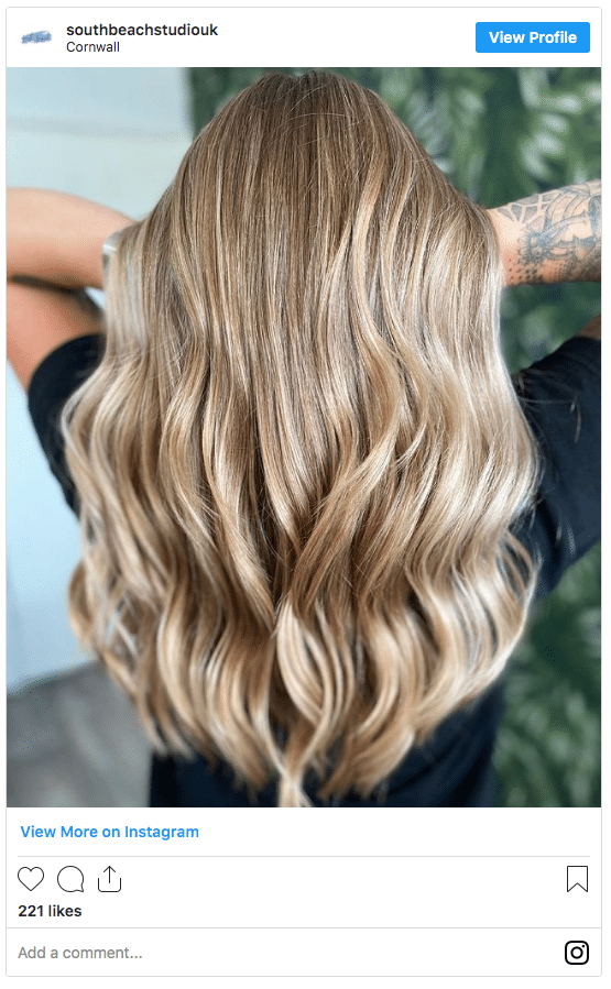 honey blonde hair color instagram post fall color