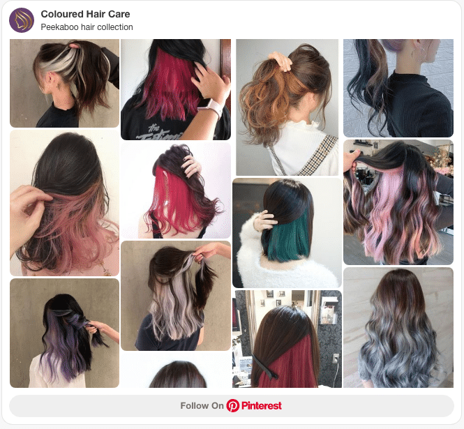 underneath hair color peekaboo ideas pinterest board