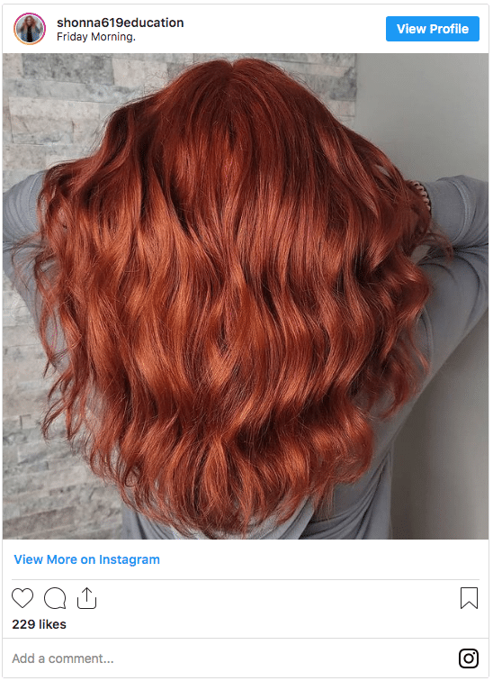 how long does permanent hair color last copper hair instagram