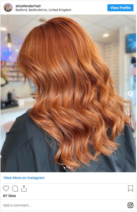 light ginger color instagram post 1